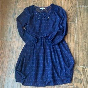 SPEECHLESS Girls Navy Lace Dress